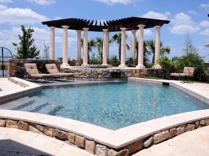 Arbor and Swimming Pool