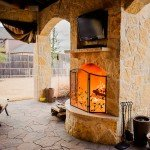 Belgard Mega Arbel Paver & Fireplace - Dallas Outdoor Kitchens