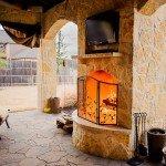 Belgard Mega Arbel Paver & Fireplace - Dallas Outdoor Kitchens