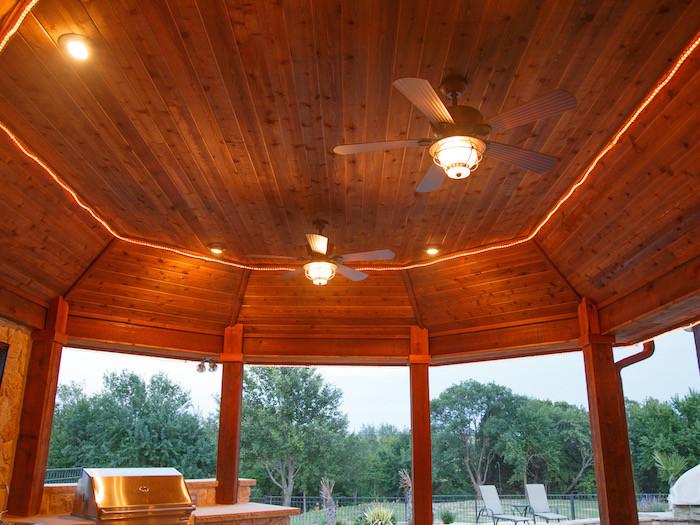 Cedar patio cover