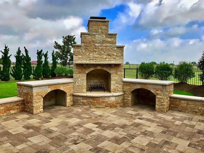 Celina, TX. Dry Stack Fireplace