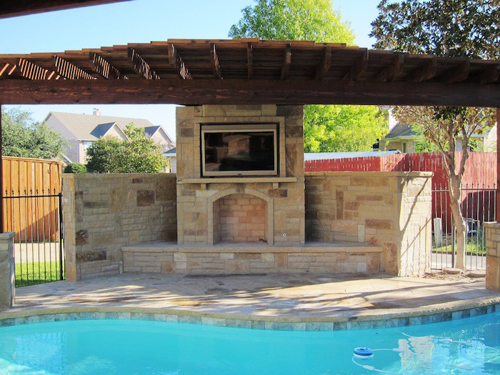 Fireplace and Swimming Pool