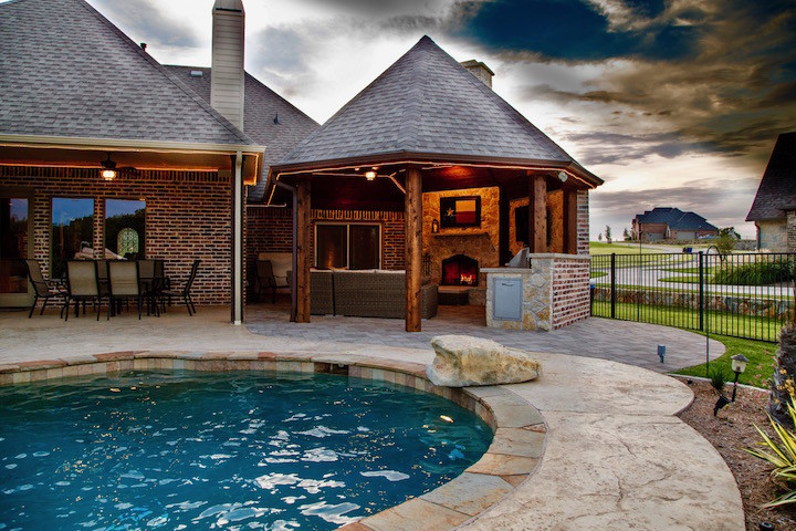 outdoor kitchen and fireplace covered heath tx outdoor kitchen swimming pool heath kitchen cabana fireplace dallas kitchens