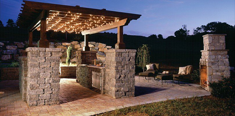Belgard pavers interlocking pavers in dallas tx for Dallas outdoor kitchens