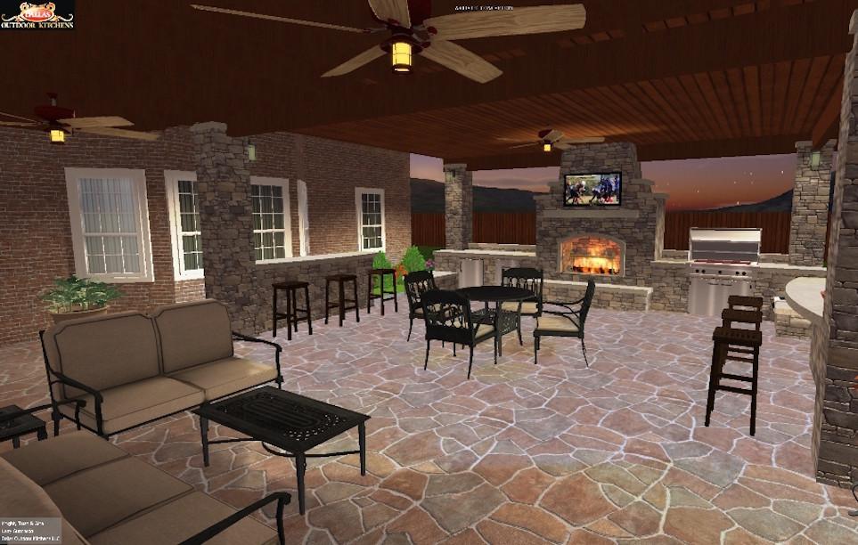 dallas outdoor kitchen