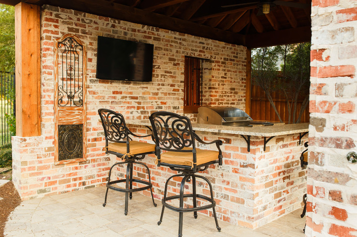 Frisco tx new orleans style outdoor kitchen cabana project for New orleans style kitchen