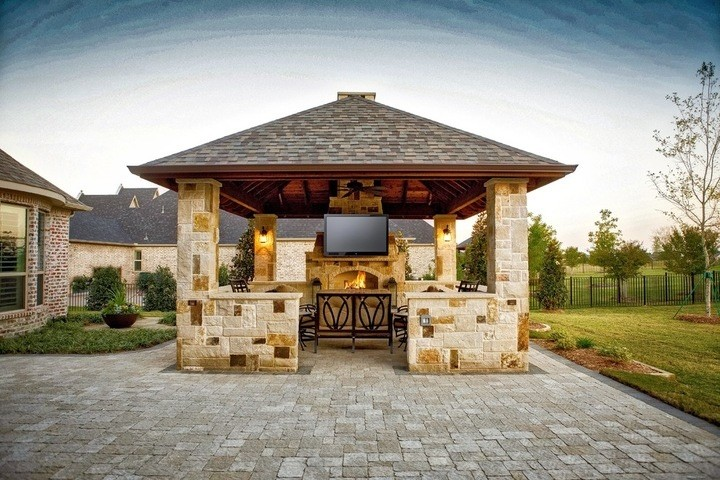 Prosper Tx Cabana Amp Fireplace Project Dallas Outdoor