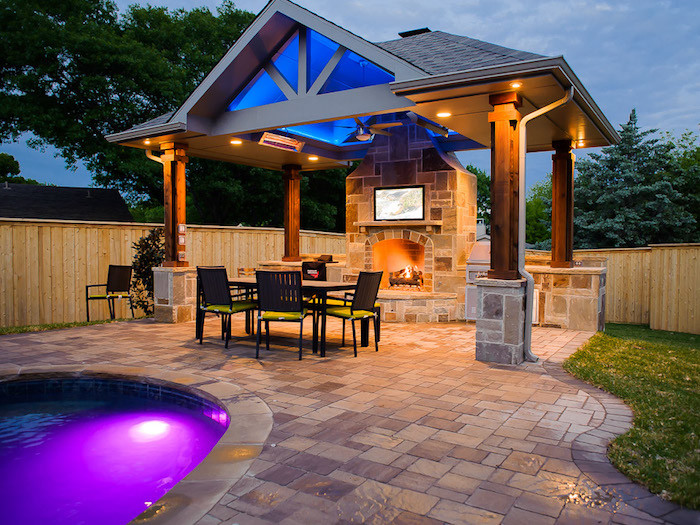 Outdoor Living with Fireplace