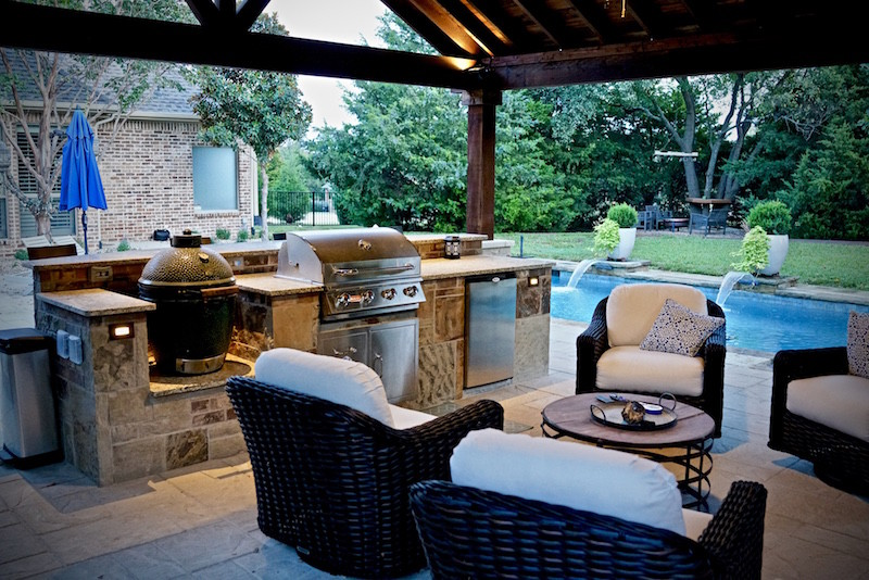 Outdoor kitchens in dallas tx custom stone work for Dallas outdoor kitchens